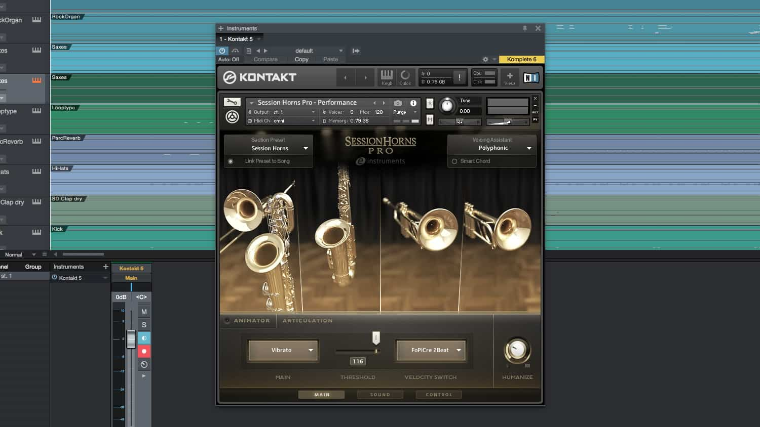 e-instruments session horns pro advanced features
