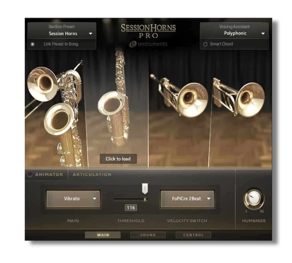 Session Horns Pro GUI
